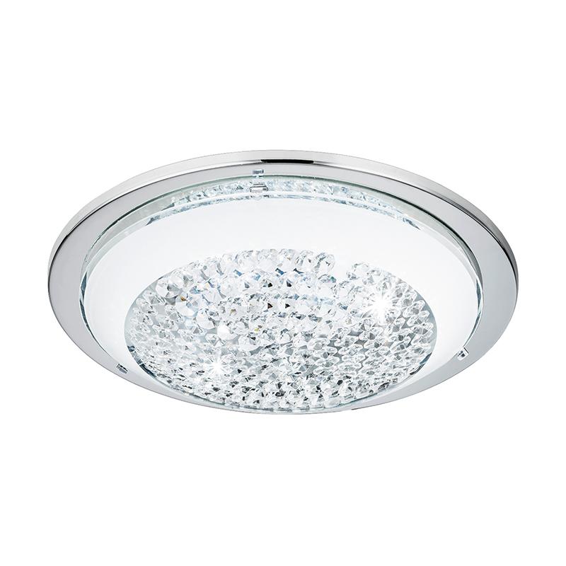 EGLO 95639 Светодиод. настенно-потолочный светильник ACOLLA, 8,2W (LED), сталь/хром/стекло с кристал/бел