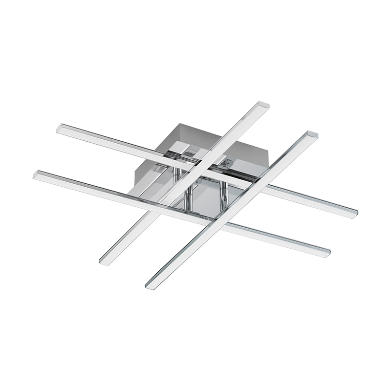 EGLO 95568 Светодиодная люстра LASANA 1, 24W (LED), L550, B500, сталь, хром/пластик, белый