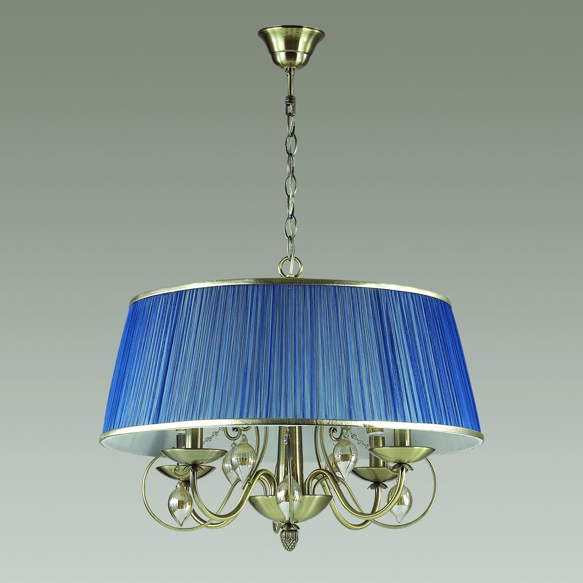 ODEON LIGHT 3921/4 ODL18 358 бронза/ткань/стекло Люстра IP20 E14 4*40W 220V NIAGARA