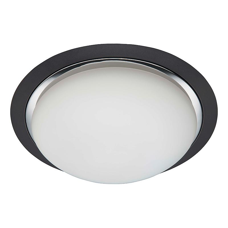 Brilliant 93852/76 Настенно-потолочный светильник MAGNOLIA 3x40W E27 черный/хром/белый, матовый IP44