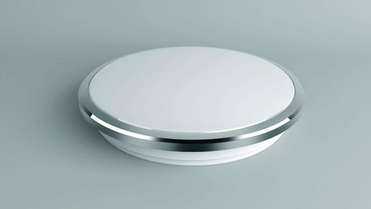 CITILUX CL702221W Настенно-потолочный светильник ЛУНА 1x22W LED хром / белый