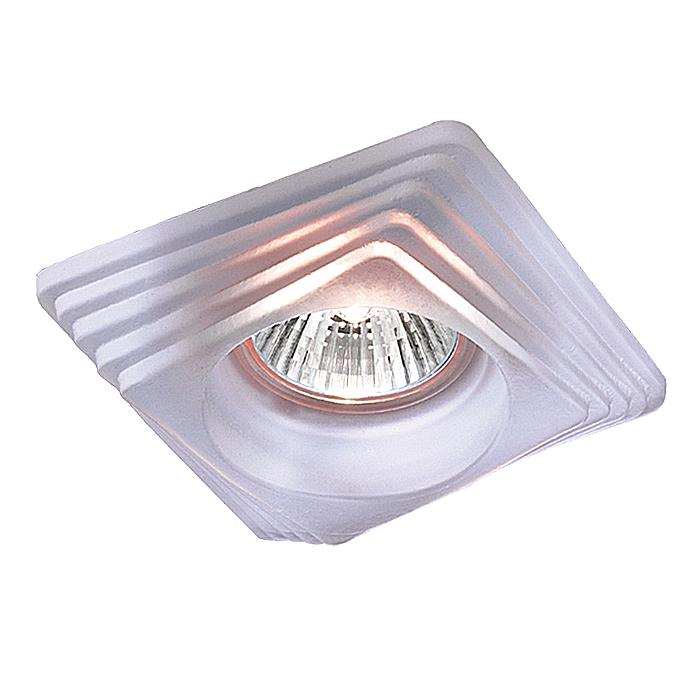 NOVOTECH 369126 Встраиваемый светильник неповоротный GLASS 1x50W GX5.3 белый IP20