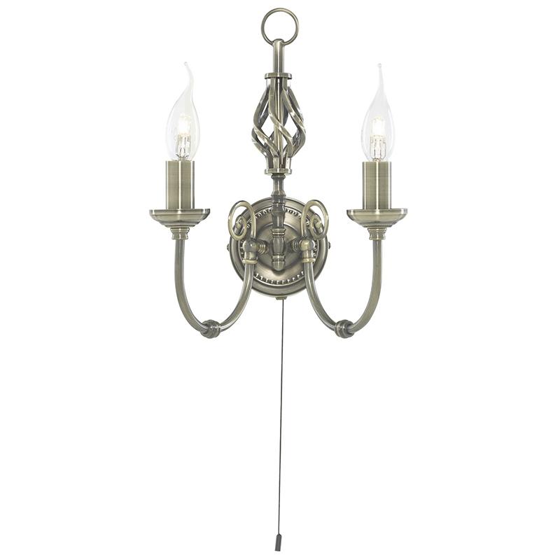Arte Lamp A8392AP-2AB Бра  ZANZIBAR 2x60W E14 античная бронза