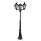 Arte Lamp A1017PA-3BN уличный светильник столб  BERLIN 1x100W E27 черно-золотой IP44