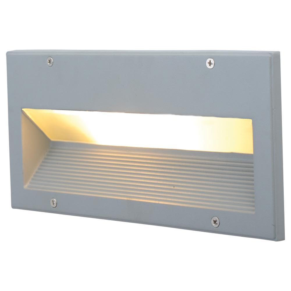 Arte Lamp A5158IN-1GY уличный встраиваемый светильник BRICK 1x60W E27 серый IP54 для стен и ступеней