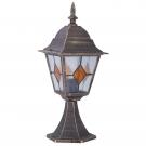 Arte Lamp A1014FN-1BN Цокольный светильник  BERLIN 1x100W E27 черно-золотой IP44