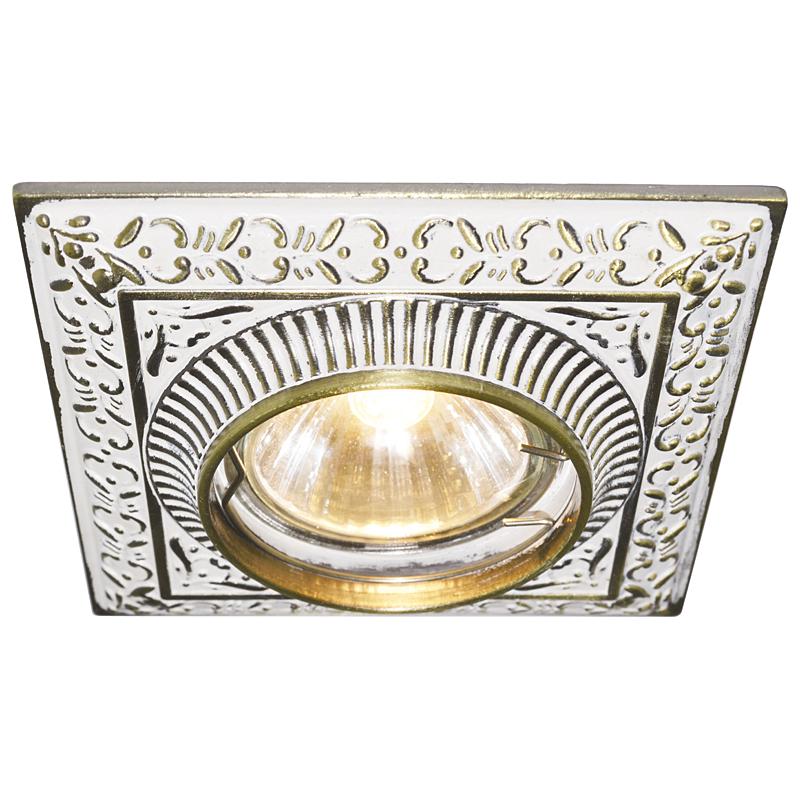 Arte Lamp A5284PL-1WG Встраиваемый светильник неповоротный OCCHIO 1x50W GU10 / G5,3 бело-золотой