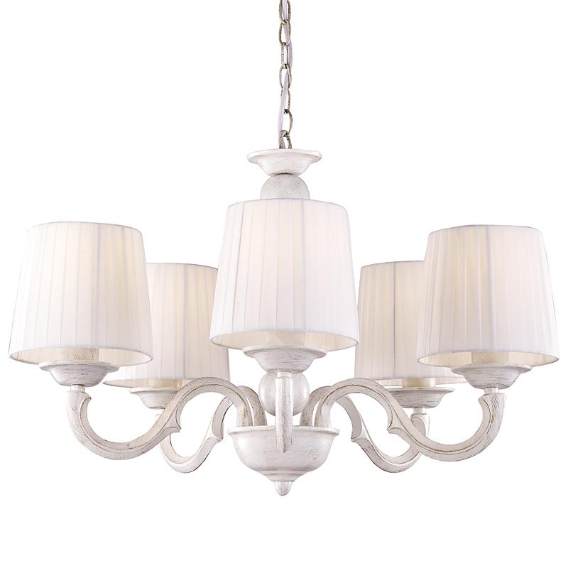 Arte Lamp A9395LM-5WG Люстра ALBA 5x40W Е27 бело-золотой / белый