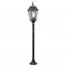 Arte Lamp A1206PA-1BS Уличный светильник столб  GENOVA 1x100W E27 черное серебро IP44