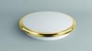 CITILUX CL702222W Настенно-потолочный светильник ЛУНА 1x22W LED золото / белый