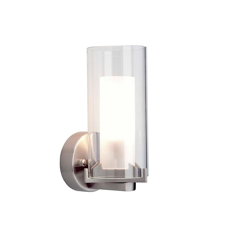 Brilliant 90215/13 Светильник для зеркала ADRANO 1x40W E14 хром/белый/прозрачный