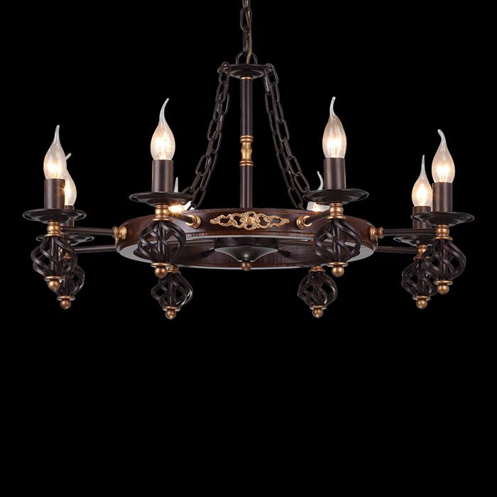 Arte Lamp A4550LM-8CK Люстра CARTWHEEL 8x60W E14 коричневый