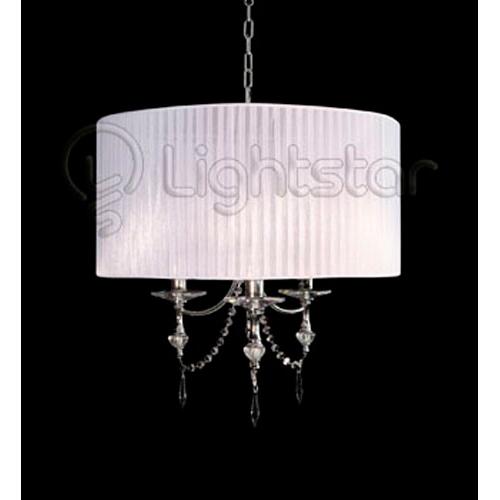 Lightstar 725036 Люстра PARALUME 3x40W E14 хром/белый