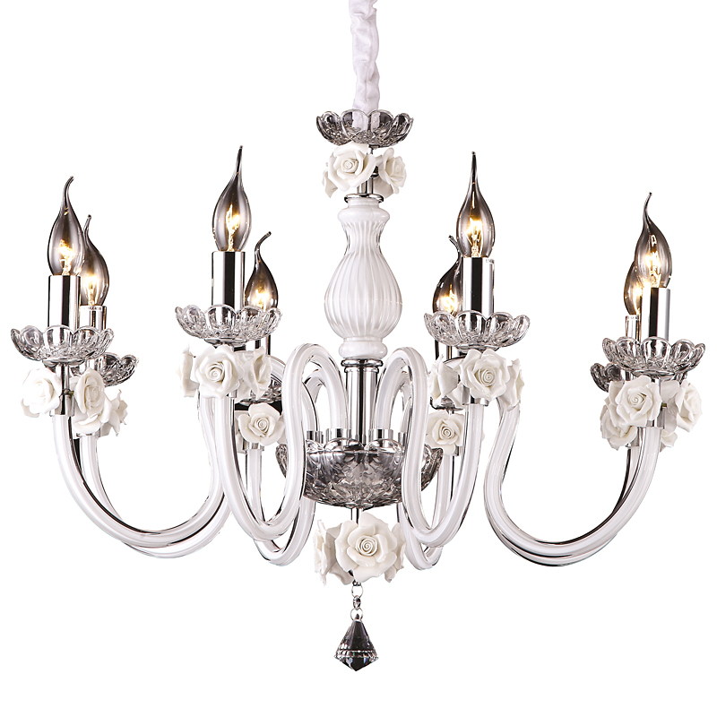 Arte Lamp A8310LM-8WH Люстра FAENZA 8x40W Е14 белый