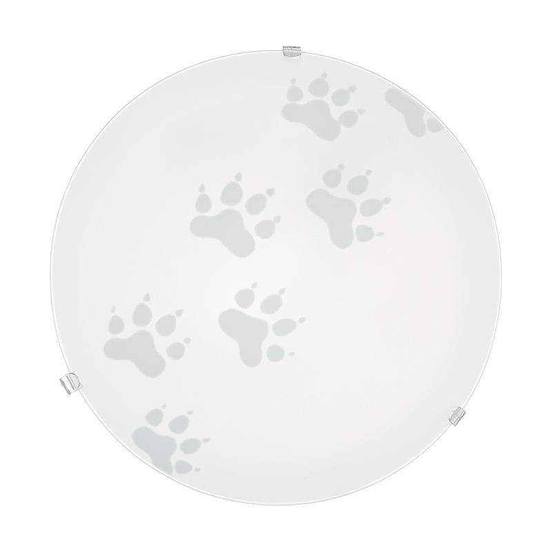 EGLO 94971 Настенно-потолочный светильник MARS, 1х60W (E27), ?245, сталь, белый/сатиновое стекло, белый