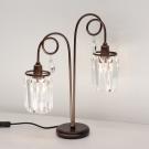 CITILUX CL330823 Настольная лампа СИНДИ 2x60W E14 коричневый / прозрачный