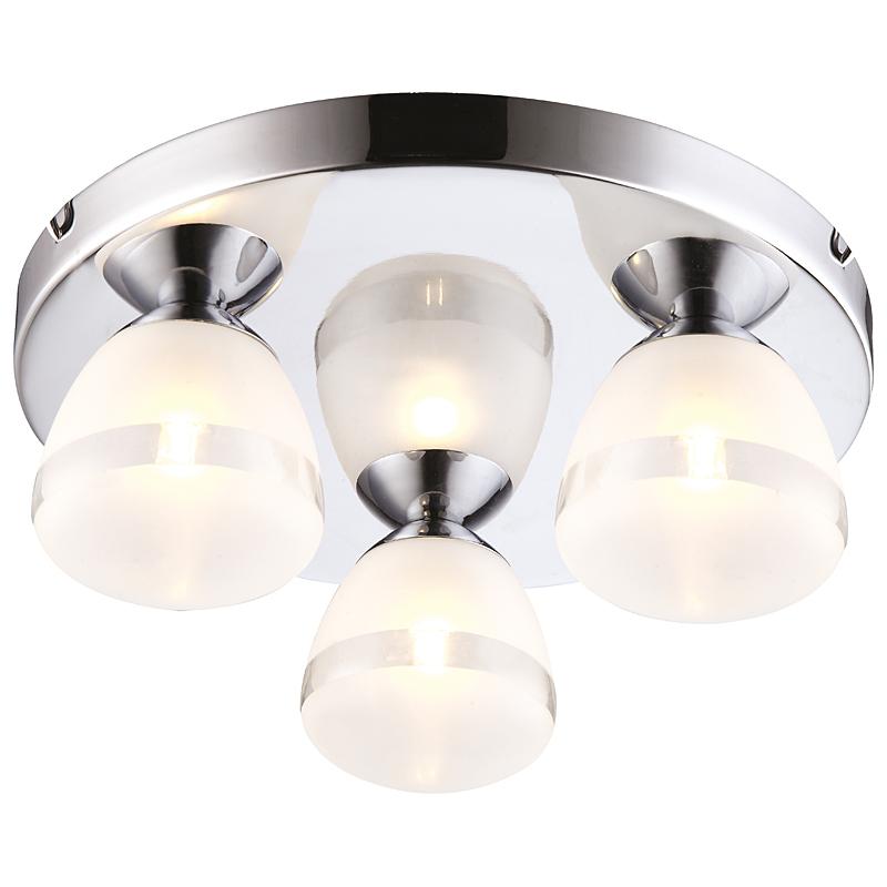 Arte Lamp A9501PL-3CC Потолочный светильник AQUA 3x33W G9 хром / белый матовый