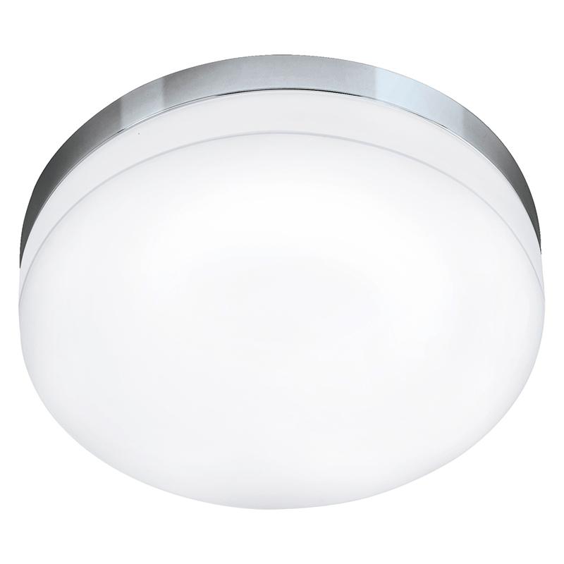 EGLO 95001 Светодиод. потолочный светильник LED LORA, 16W (LED), ?320, IP54, сталь, хром/опаловое стекло, белый