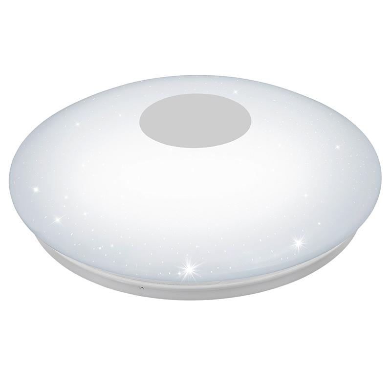 EGLO 95973 Светодиод. наст.-потол. светильник VOLTAGO 2 с пультом ДУ, 30W(LED), ?600, сталь, белый/пластик с эф. хрусталя, белый