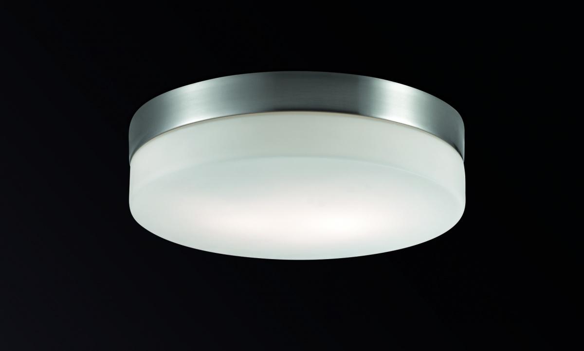 Odeon Light 2405/1A Настенно-потолочный светильник PRESTO 1х60W E14 IP44 никель матовый