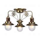 Arte Lamp A4524PL-3AB Люстра потолочная SAILOR 3x60W E27 античная бронза / прозрачный