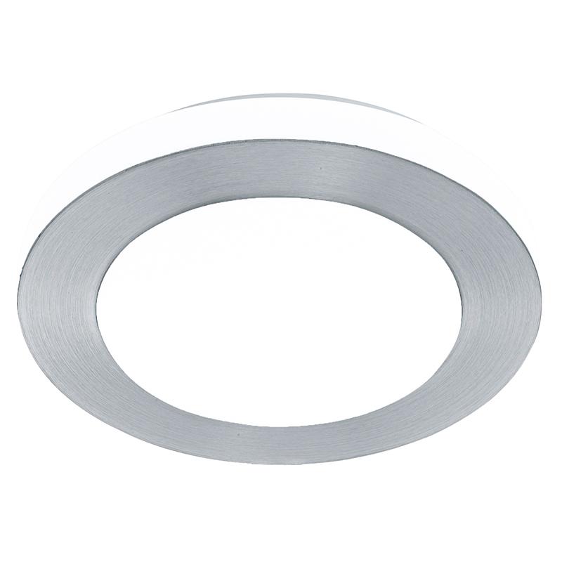 EGLO 94967 Светодиод. настен.-потол. светильник LED CARPI, 11W (LED), ?300, IP44, сталь, алюминий, алюм. чесаный/пластик, белый