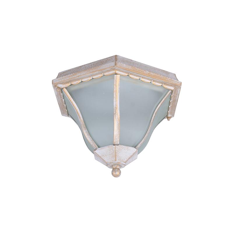 Arte Lamp A1826PF-2WG Уличный накладной светильник  PORTICO 2x60W E27 бело-золотой IP44