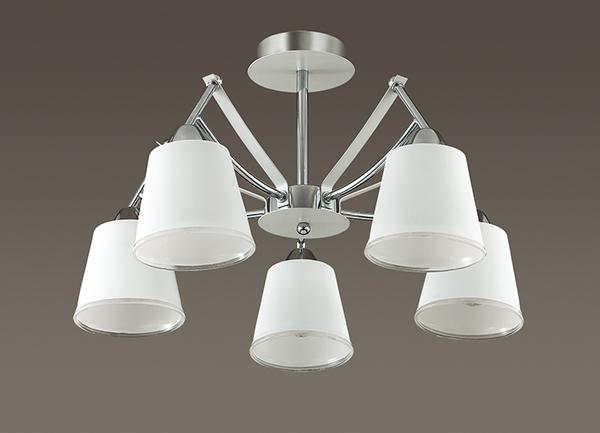 3449/5C LN17 169 хром/белый/стекло Люстра потолочная E14 5*60W 220V HADRINNA Lumion