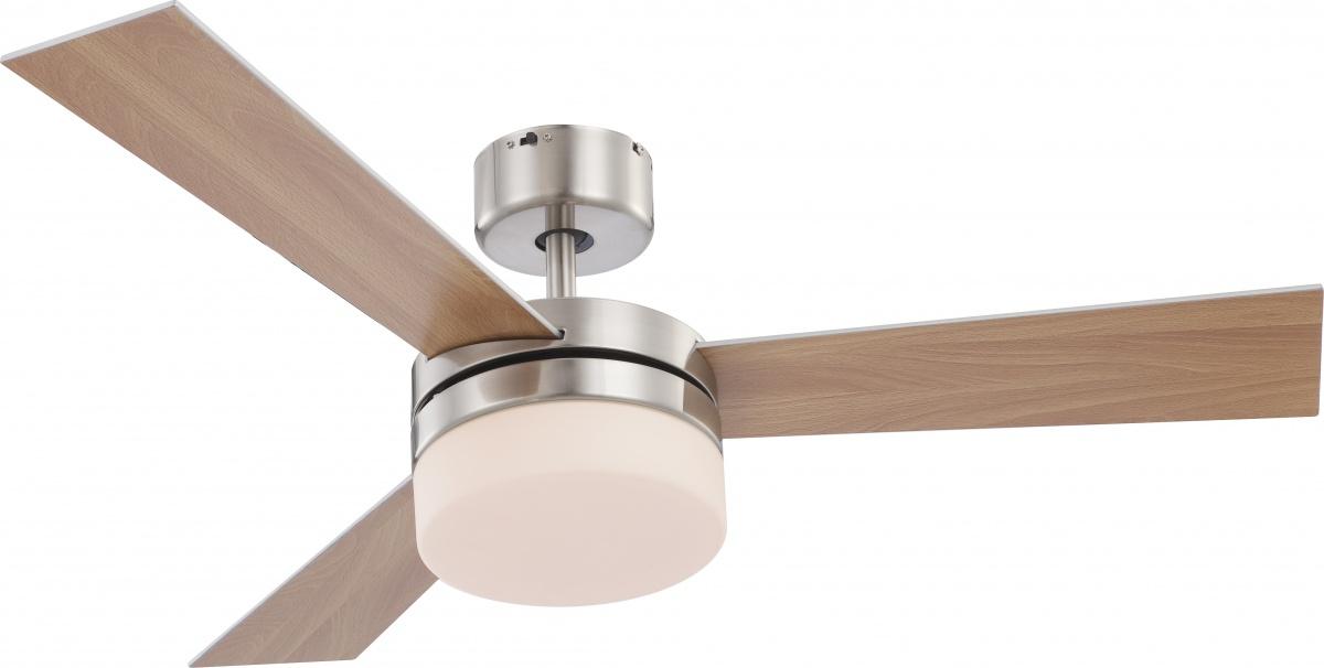 Globo 0333 люстра-вентилятор 2x40W E14 матовый никель, с пультом