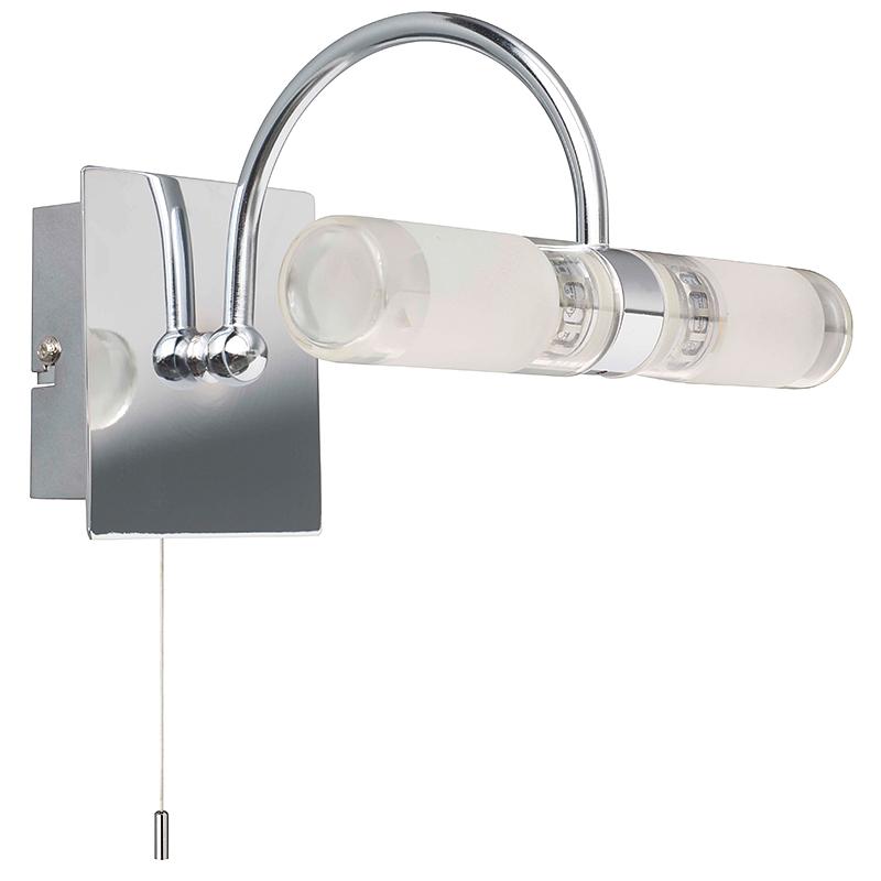 Brilliant G90228B15 Светильник для зеркала MARVIN 2x33W G9 хром/белый IP44
