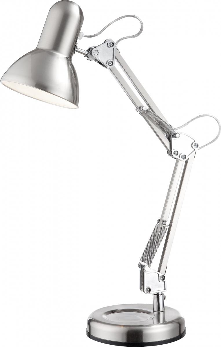 Globo 24891 Настольная лампа FLOW 1x40W E27 никель