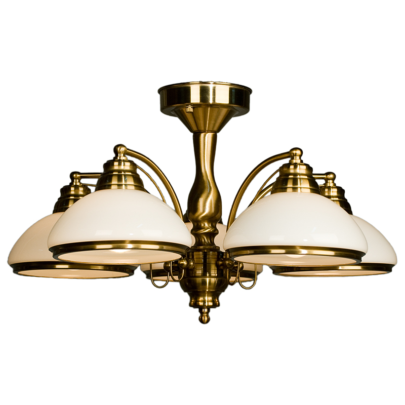 CITILUX CL401153 Люстра потолочная КРАКОВ 5x75W E27 золото