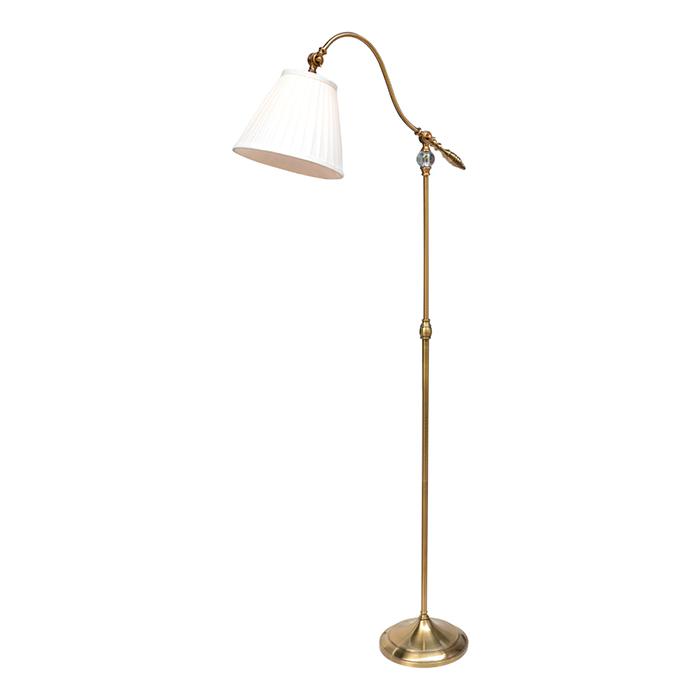Arte Lamp A1509PN-1PB Торшер для чтения SEVILLE 1x60W E27 полированная медь / белый