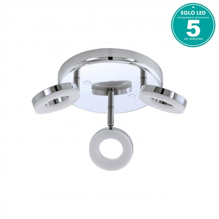 Eglo 94762 Потолочный светильник GONARO 3x3,8W LED хром/белый