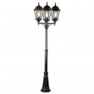 Arte Lamp A1207PA-3BN Уличный светильник столб  GENOVA 3x100W E27 черно-золотой IP44