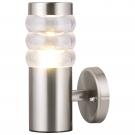 Arte Lamp A8381AL-1SS Уличный настенный светильник PORTICO 1x20W E27 матовое серебро / белый