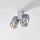 CITILUX CL556101 Накладной светильник ДУБЛЬ 2x5W LED серый, серебристый