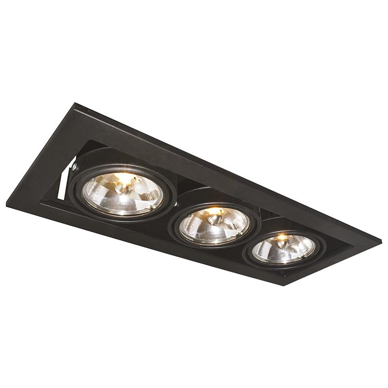 Arte Lamp A5930PL-3BK Встраиваемый светильник неповоротный TECHNIKA 3x50W G53 черный