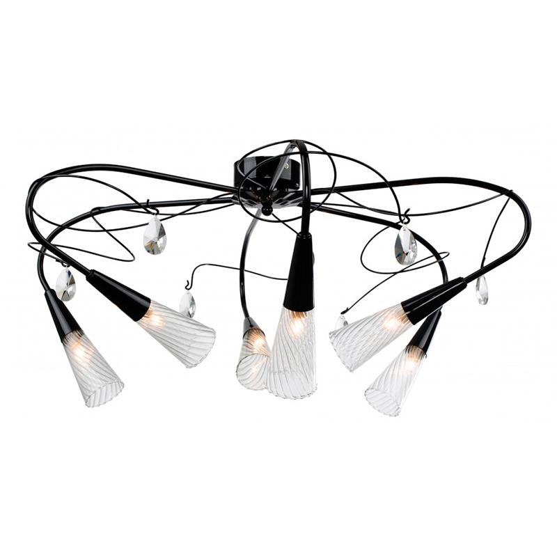 Lightstar 711067 Люстра потолочная AEREO 6x40W G9 черный/прозрачный