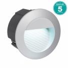 95233 Уличный светодиодный светильник встраиваемый ZIMBA-LED, 2,5W (LED), ? 125,  ET 95, IP65, литой алюминий, серебряный Eglo
