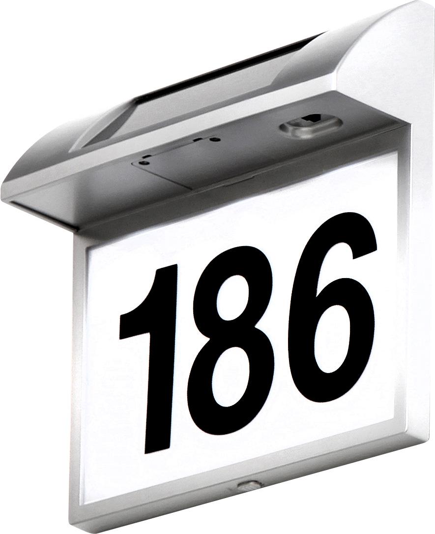 Globo 3379 Светильник ТЕХНО номер дома, на солнечной батарее 3x0,06W  хром