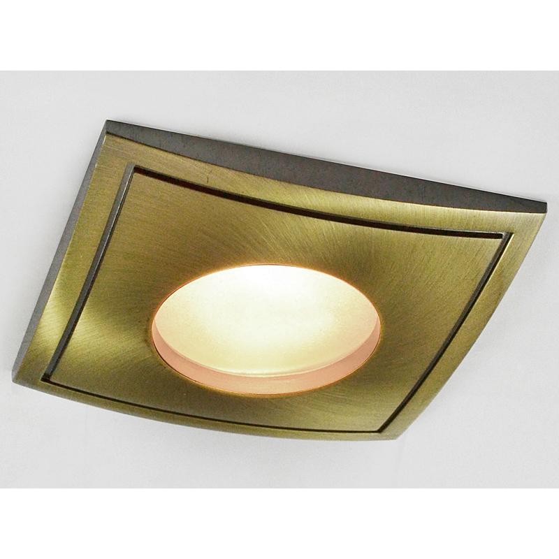 Arte Lamp A5444PL-3AB Встраиваемый светильник неповоротный AQUA 3x50W GU10 античная бронза IP44