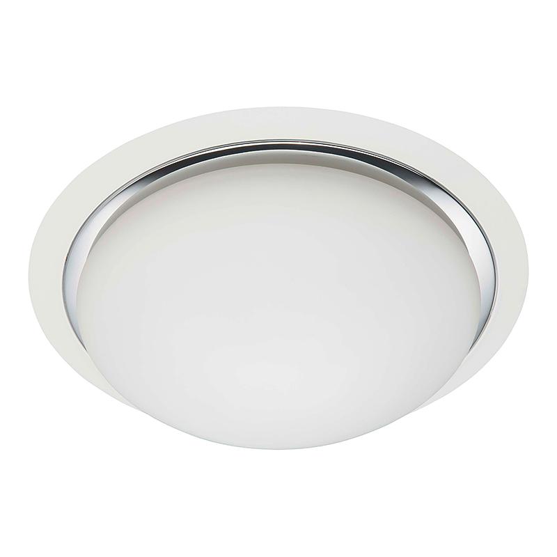 Brilliant 93852/75 Настенно-потолочный светильник MAGNOLIA 3x40W E27 белый/хром/белый, матовый IP44