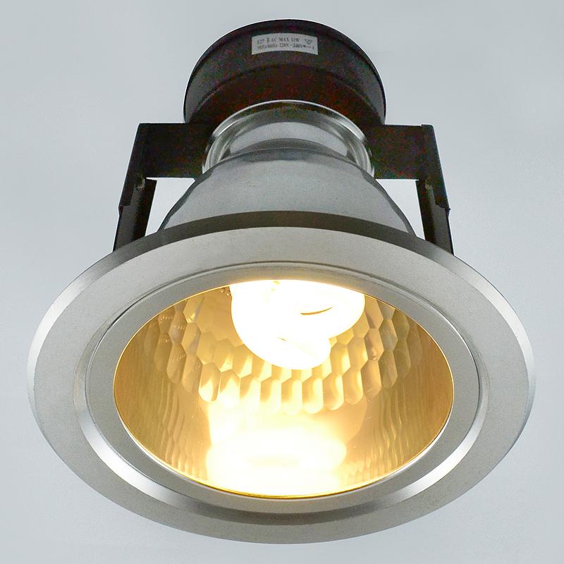 Arte Lamp A8044PL-1SI Встраиваемый светильник неповоротный GENERAL 1x13W E27 серебро IP23