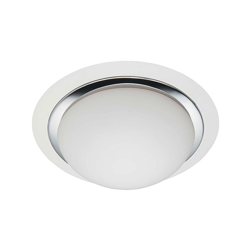 Brilliant 93851/75 Настенно-потолочный светильник MAGNOLIA 2x40W E27 белый/хром/белый, матовый IP44