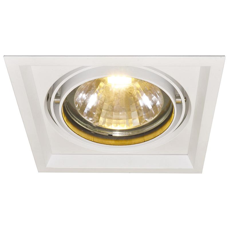 Arte Lamp A2134PL-1WH Встраиваемый светильник неповоротный ACCENT 1x30W 2400Lm 3000KW  белый