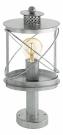 94867 Уличный светильник напольный HILBURN 1, 1х60W (E27), H410,  IP44, гальван. сталь, состарен. серебряный/пластик, прозрачный Eglo