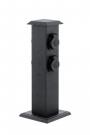 93426 Уличный блок штекерных розеток PARK 4, пластик, черный  Eglo