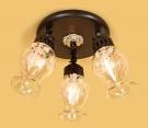 CITILUX CL413131 Потолочный светильник МЕТАФОРА 3x60W E14 кофейный
