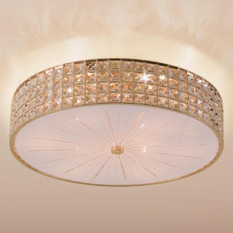 CITILUX CL324182 Потолочный светильник ПОРТАЛ 8x60 E14 Золото/Прозрачный + матовое стекло